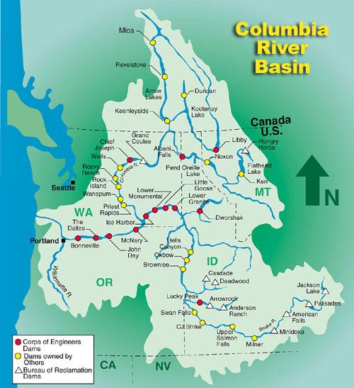 Columbia River Basin Dams